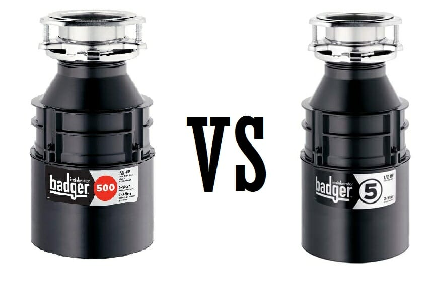 Badger 5 vs 500 garbage disposals comparison